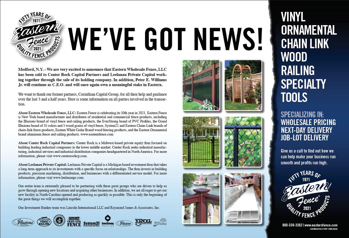 Eastern Fence We've Got News Image