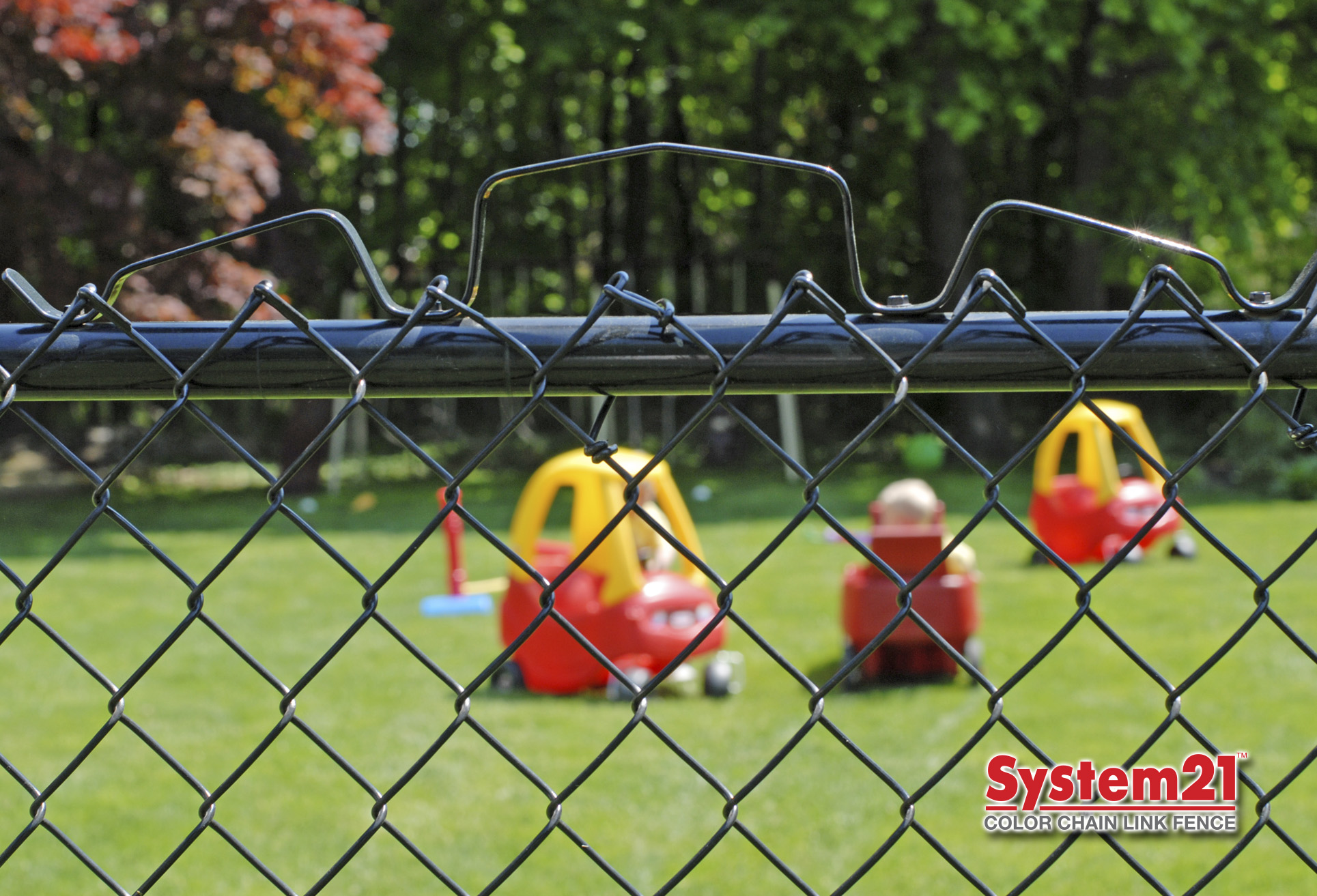 System21 Vinyl Coated Chain Link Fence